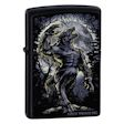 Custom Howl At The Moon Zippo Lighter - Black Matte - ZCI001722 Zippo